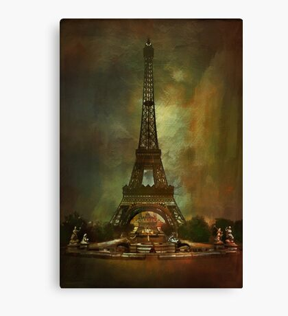 City of Paris from 1900 Canvas Print