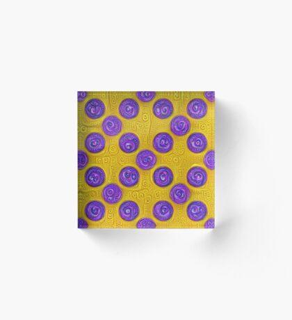#DeepDream Color Squares and Circles Visual Areas 5x5K v1448281164 Acrylic Block