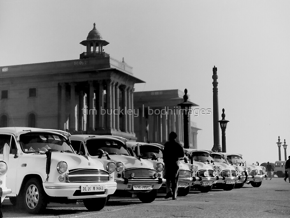 new delhi. old cars. india by tim buckley   bodhiimages