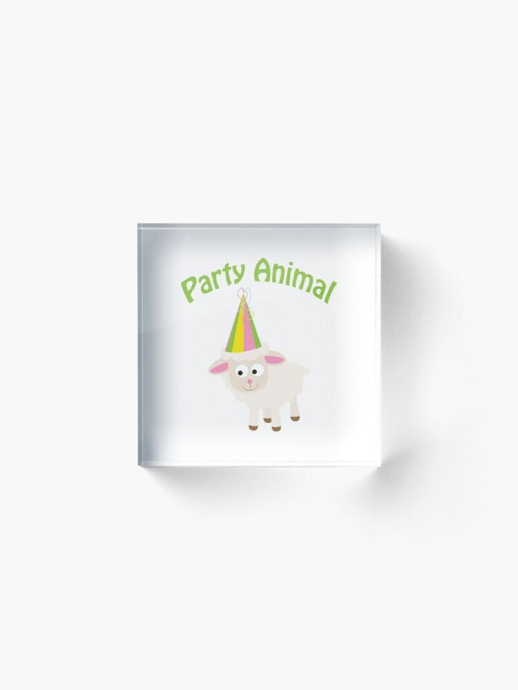 Alternative Ansicht von Partylöwe Lamm Acrylblock