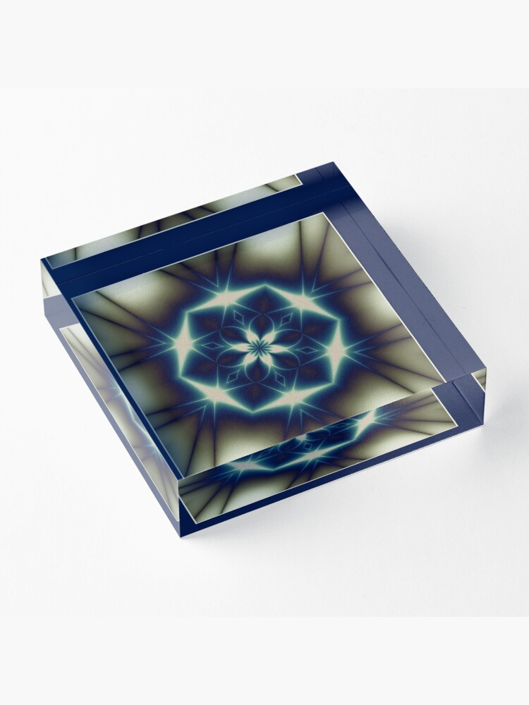 Alternate view of The Solstice Star Shawl Acrylic Block