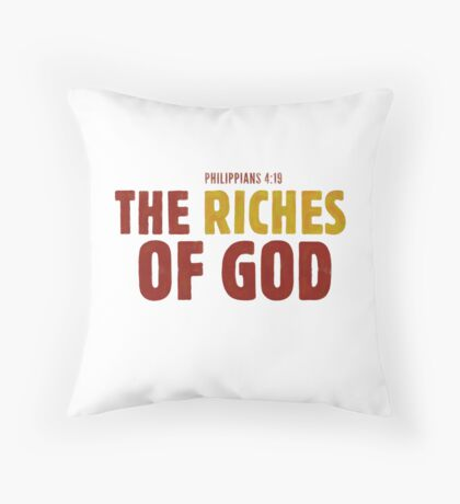 The riches of God - Philippians 4:19 Floor Pillow