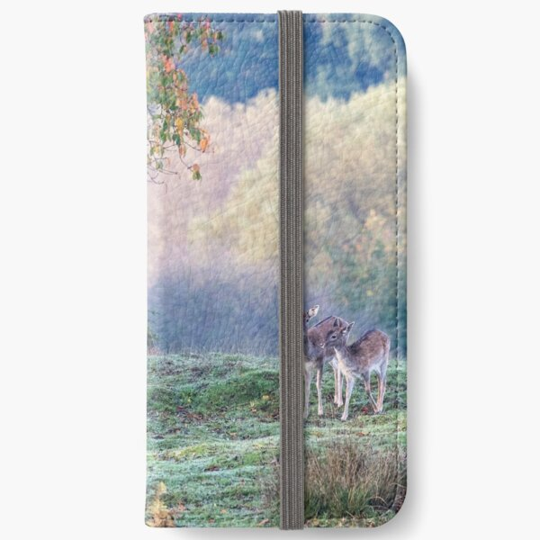 Autumn deer in the forest iPhone Wallet