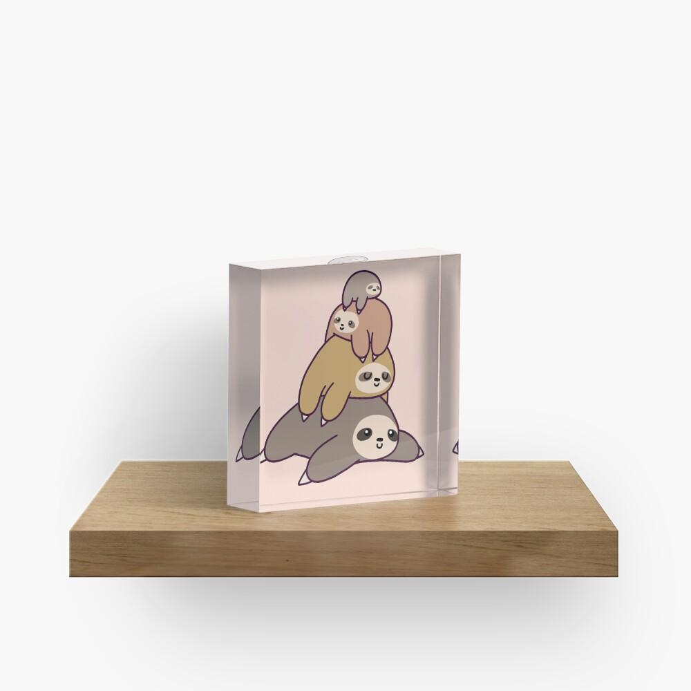 Sloth Stack Acrylic Block