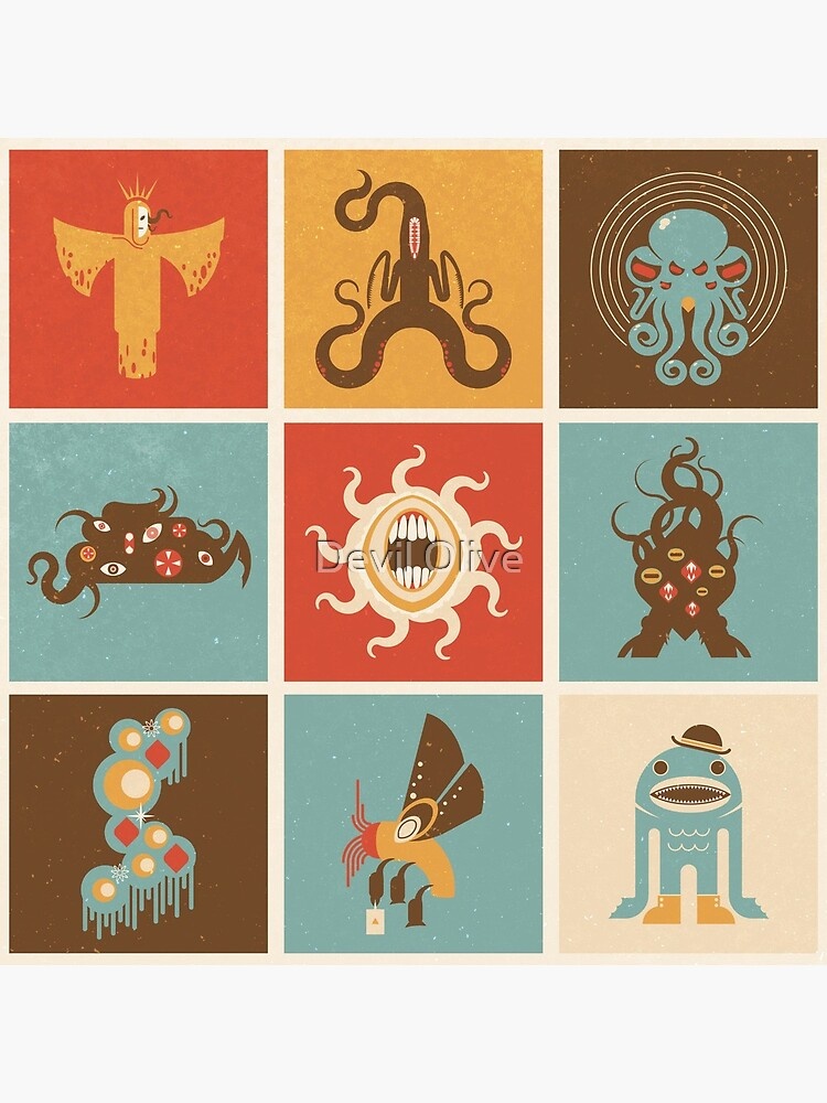 The Lovecraftian Squares by Tiki2