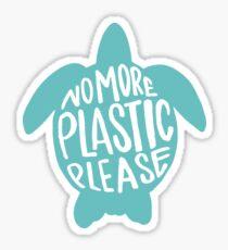 Nicht mehr Plastik, bitte - rette die Schildkröten Sticker