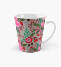 decorative cut paper collage floral pattern Tall Mug