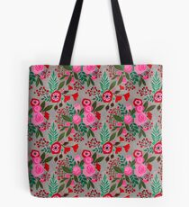decorative cut paper collage floral pattern Tote Bag