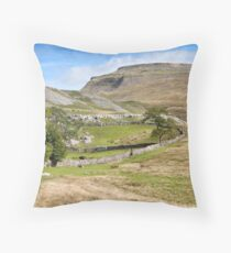 Ingleborough in the Yorkshire Dales Throw Pillow