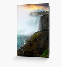 Sunset on Niagara Falls Greeting Card