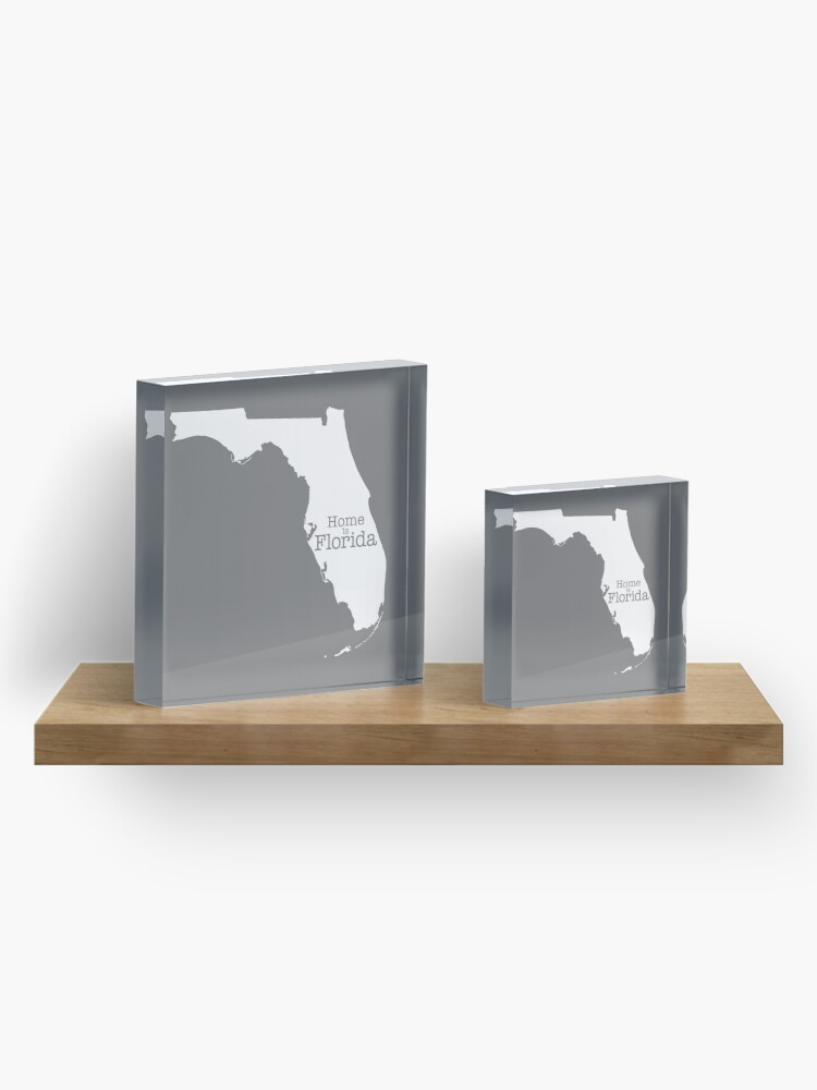 Alternate view of Home is Florida Acrylic Block