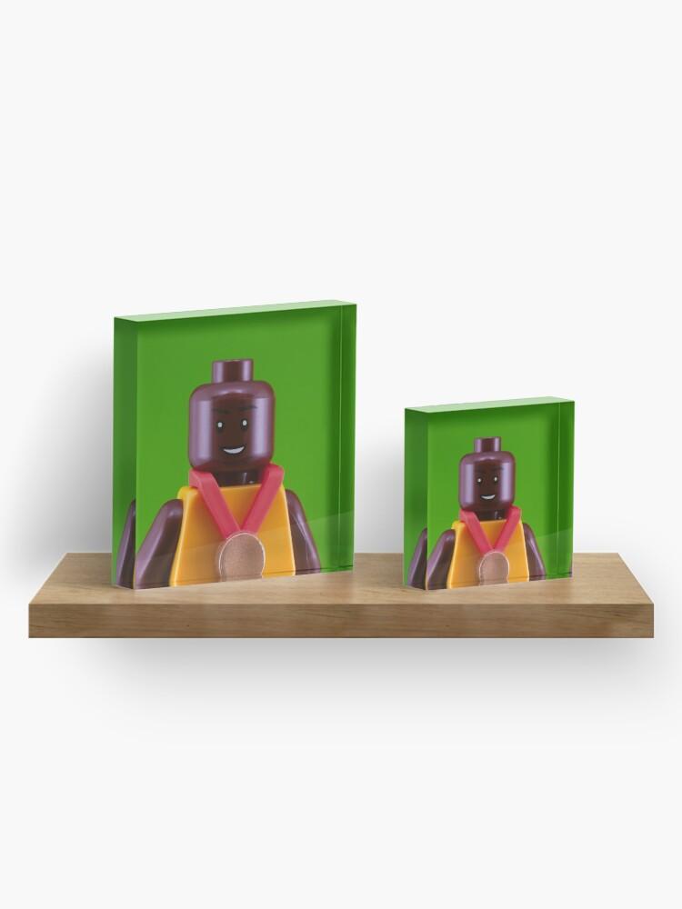 Alternate view of Usain Bolt Portrait Acrylic Block