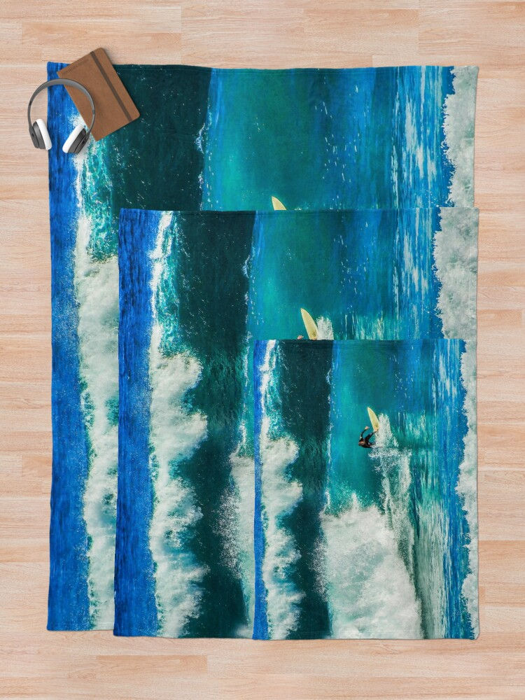 Alternate view of Surfing time Throw Blanket
