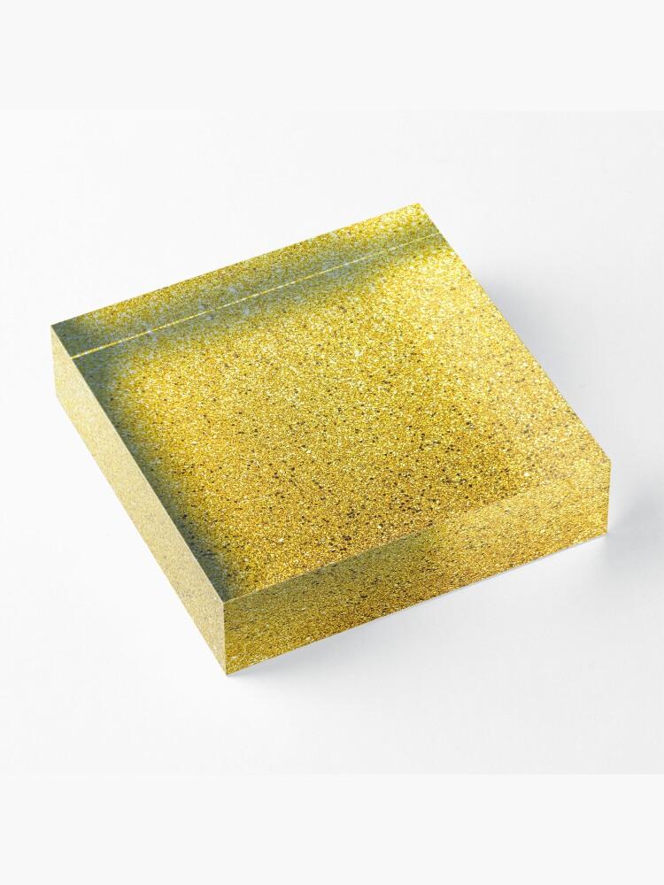 Alternative Ansicht von Sonnenschein Glittery Golden Sparkle Acrylblock