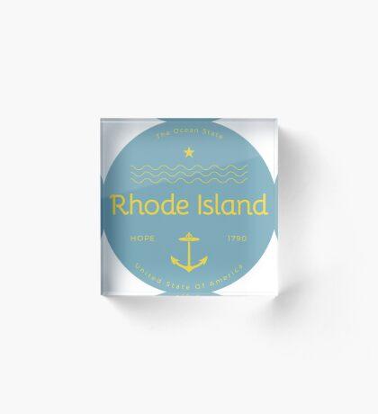 Rhode Island Badge Design Acrylic Block