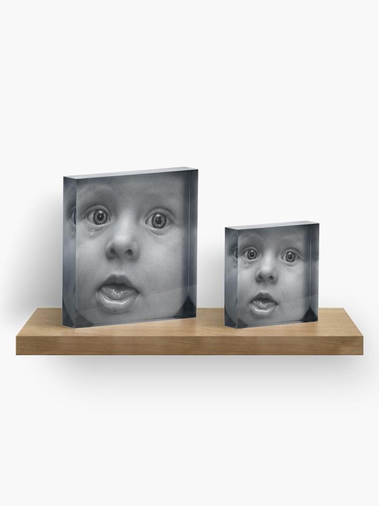 Alternate view of Tear Acrylic Block