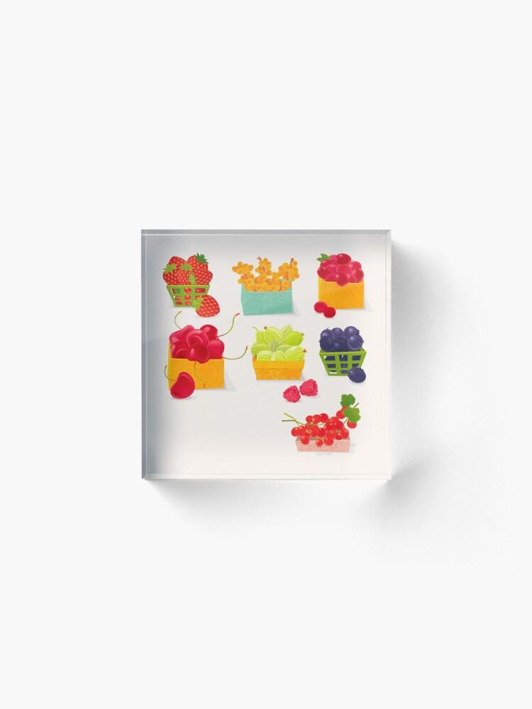 Alternate view of Sweet Berries Acrylic Block
