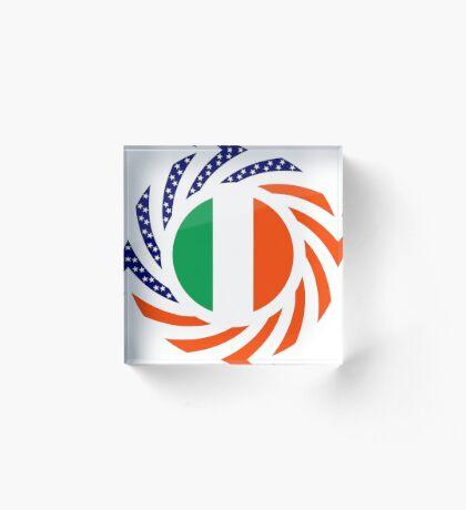 Irish American Multinational Patriot Flag Series Acrylic Block