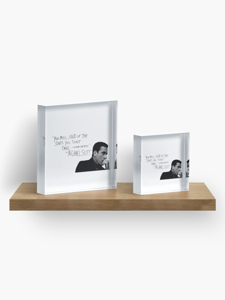 Alternate view of the office michael scott  Acrylic Block