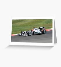 Mercedes MGP W01, Michael Schumacher Greeting Card