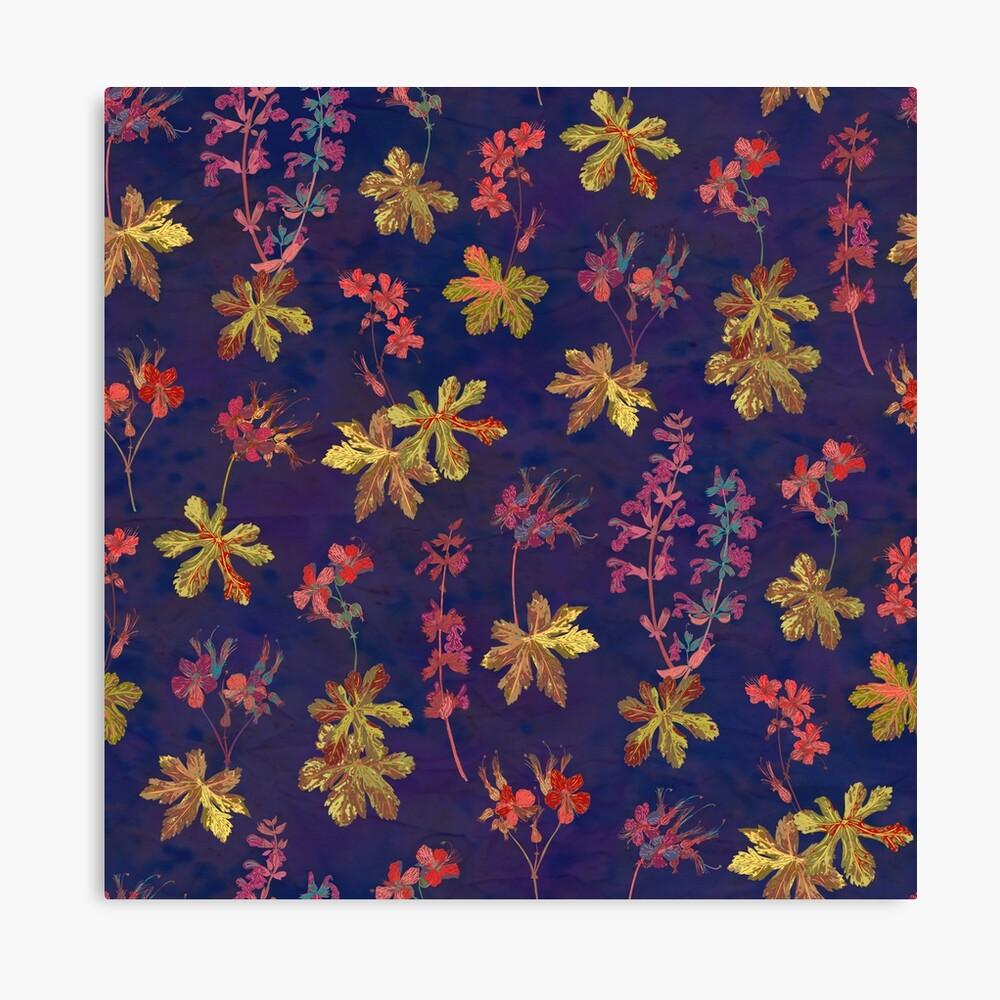 Blue Geraniums Canvas Print