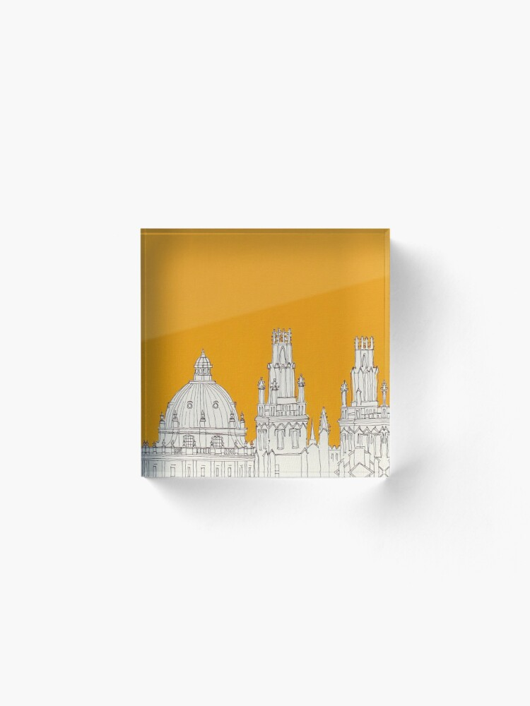 Alternate view of Oxford Rooftops Acrylic Block