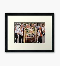 RED FACE THE WEIGHT Framed Print
