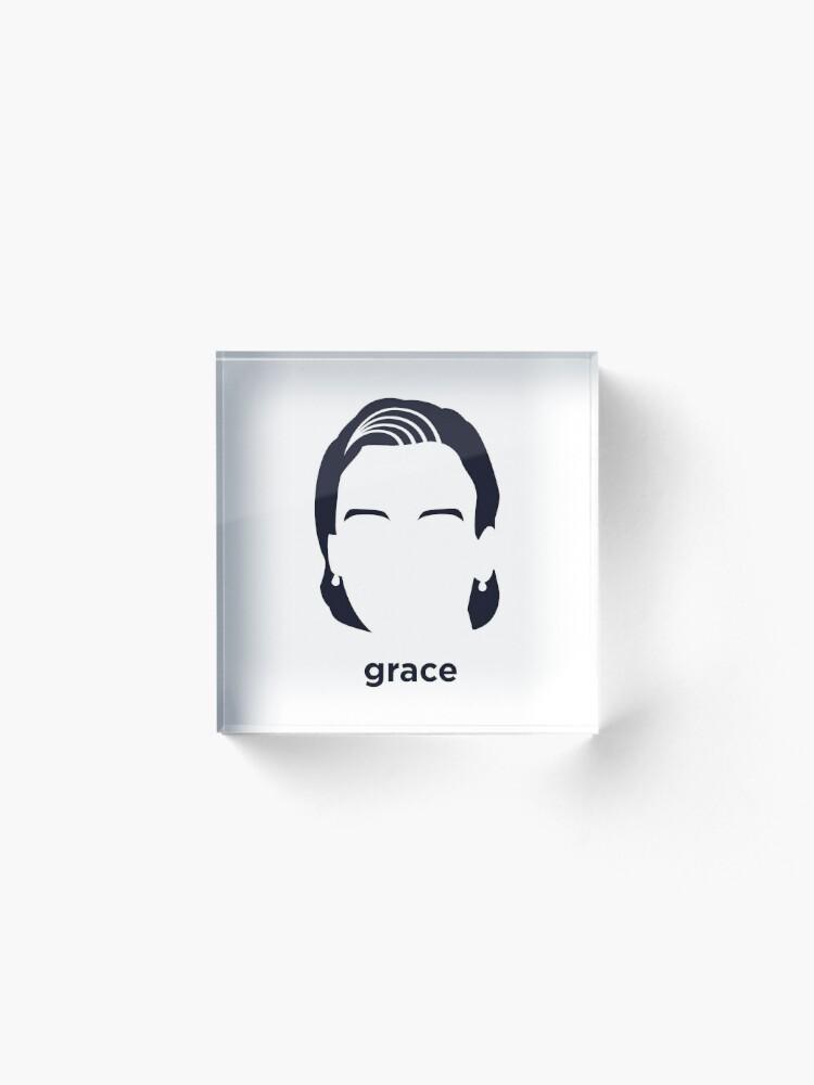 Vista alternativa de Bloque acrílico Grace Hopper (Historia hirsuta)