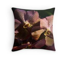 Sun Kissed Orchids Throw Pillow
