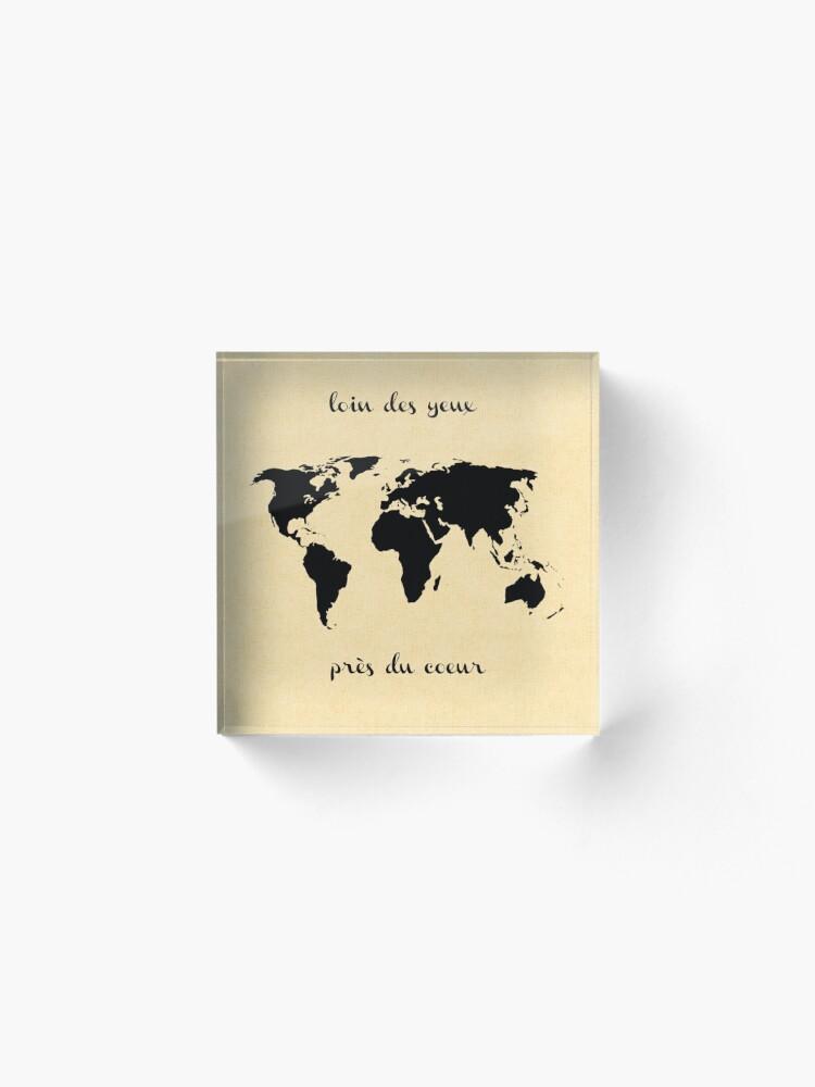 Alternate view of World Map Acrylic Block