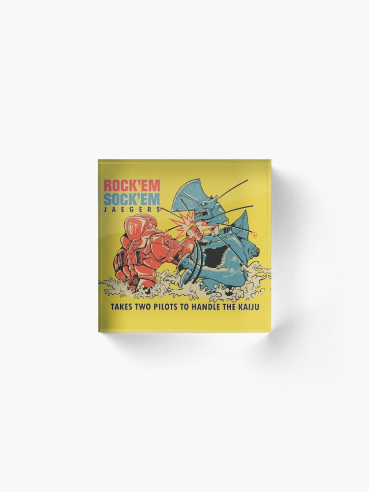 Alternate view of ROCK 'EM, SOCK 'EM JAEGERS Acrylic Block
