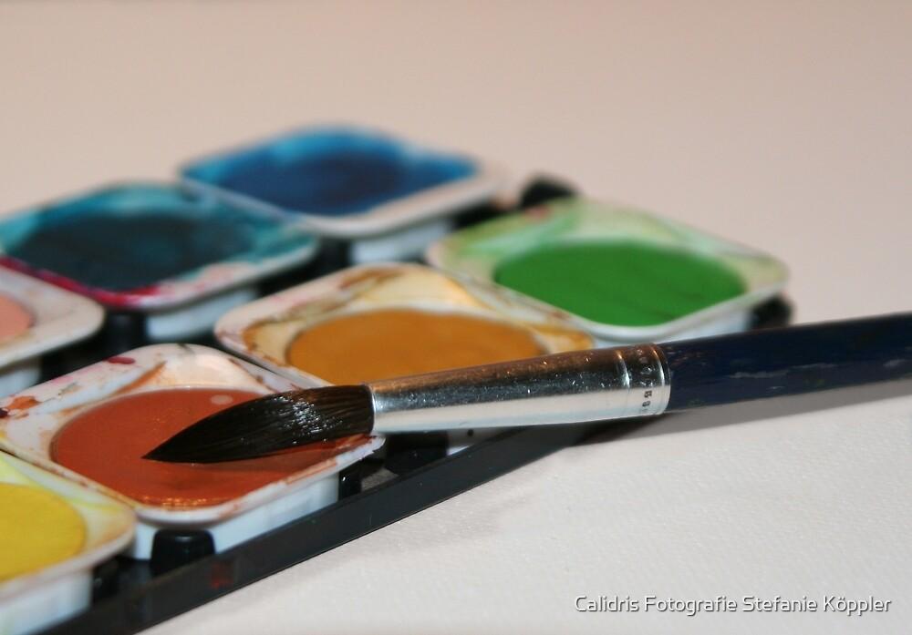 Brush and Paintbox by Stefanie Köppler