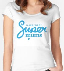 Supermums Logo Fitted Scoop T-Shirt