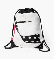 Strappy Polka Dot Tango Shoes with Red Heel Digital Painting Drawstring Bag