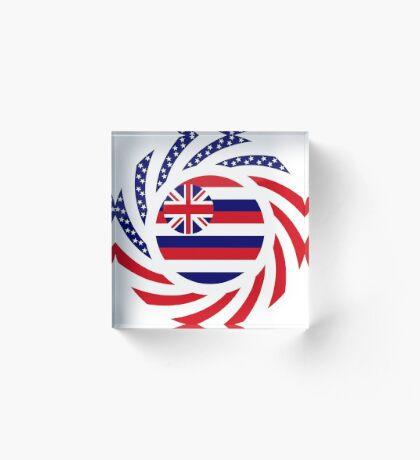 Hawaiian Murican Patriot Flag Series Acrylic Block