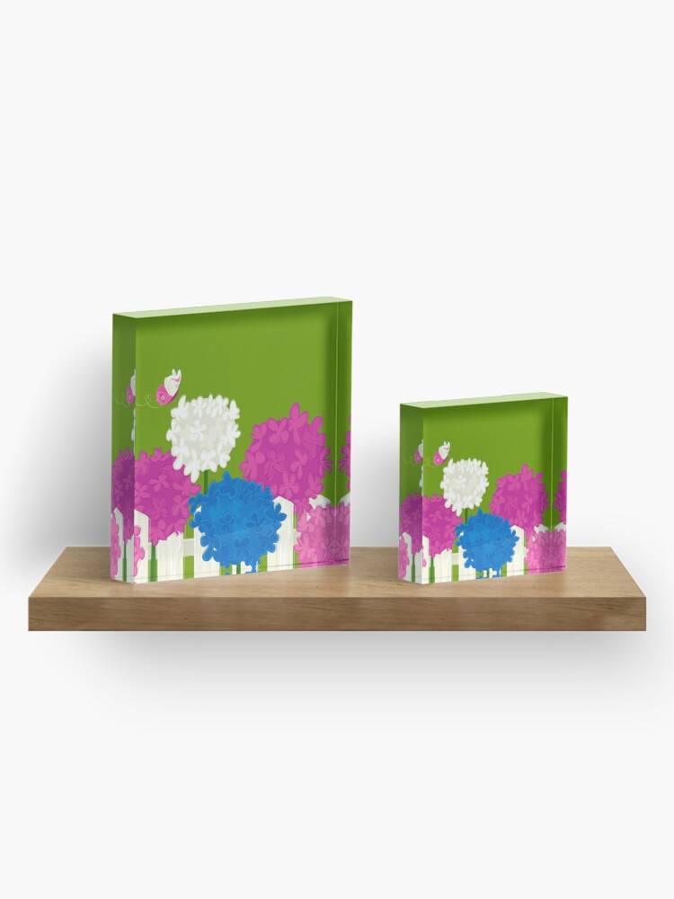 Alternate view of Flower Garden Acrylic Block
