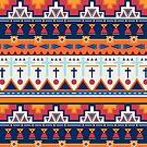Southwest Geometric Pattern  by Zehda