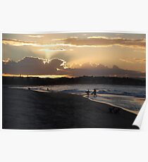 Days end at the beach Poster