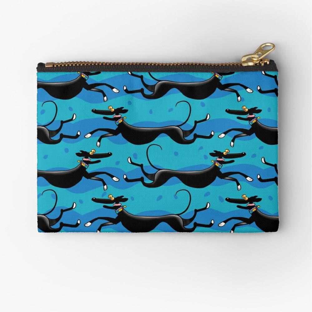 Blue Zoomies pattern Zipper Pouch