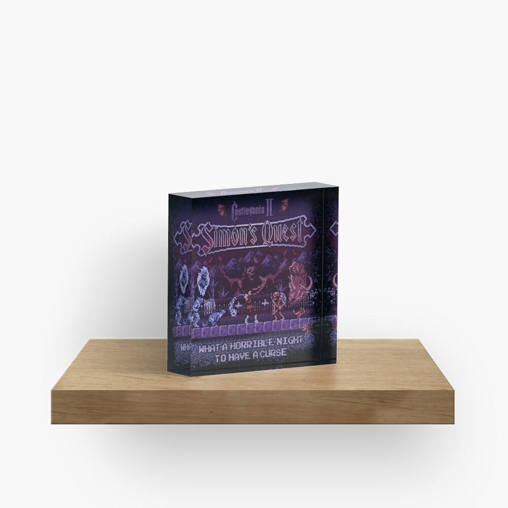 Simon's Vania Castle Quest Acrylic Block