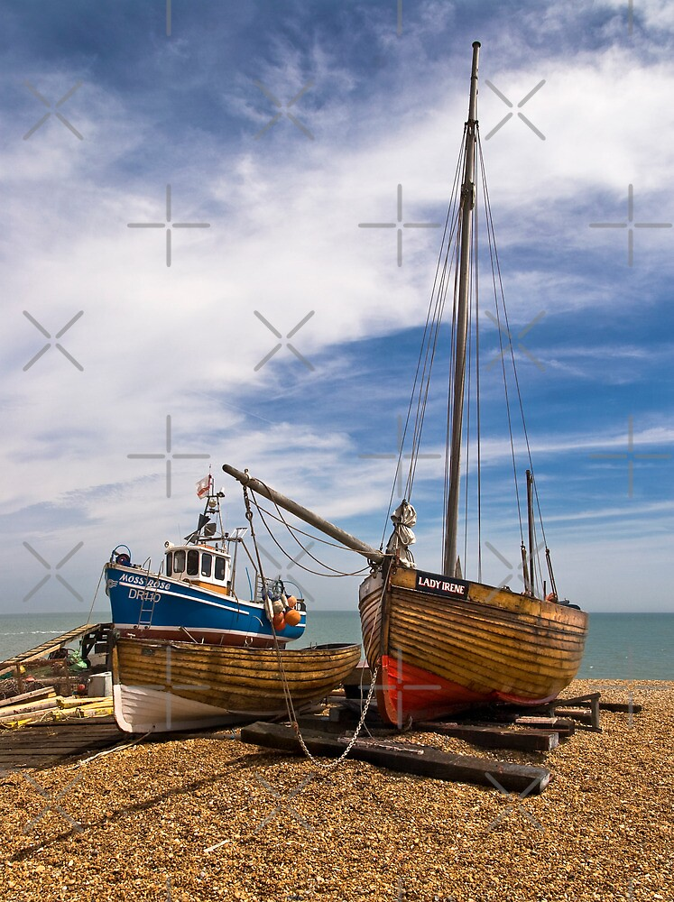 Boats on the Beach by Geoff Carpenter