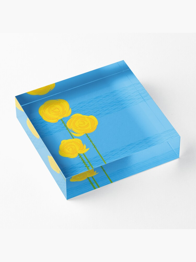 Alternate view of Yellow Roses Acrylic Block