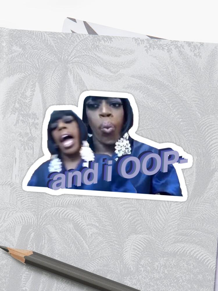 And I Oop Anna Ou Meme Sticker Sticker By Andreschilder Redbubble
