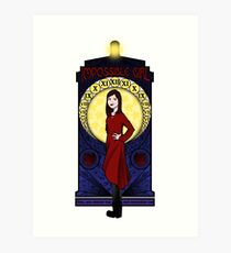 Clara Oswald: Impossible Girl Art Print