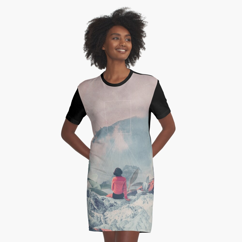Lost in the 17th Dimension Graphic T-Shirt Dress