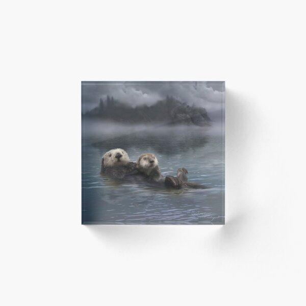 Spirit Otter Acrylic Block
