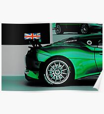 Lotus Evora in Green Poster