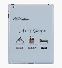 Cycling T Shirt - Life is Simple - Bike - Beer - Bed iPad Case/Skin