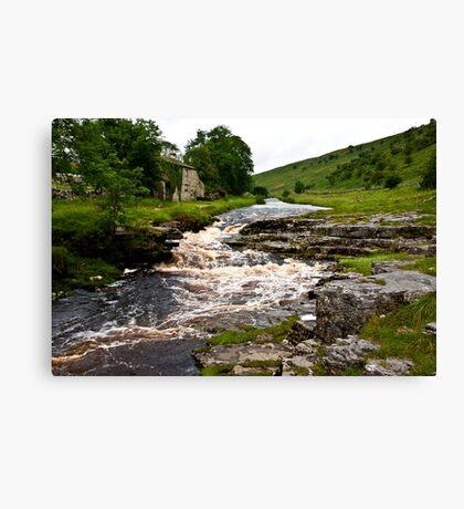River Cottage  (River Wharfe) Canvas Print