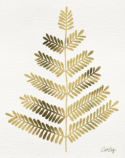 Gold Leaflets by Cat Coquillette